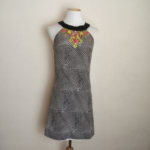 Guess by Marciano Silk Jeweled Halter Dress Size M